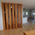 欅の柱と栗の床